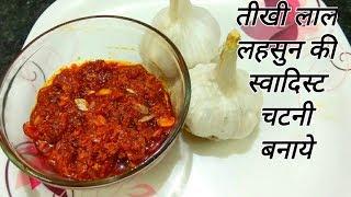 Lahsun Ki Chutney | Garlic Chutney | Red Chili Garlic Chutney