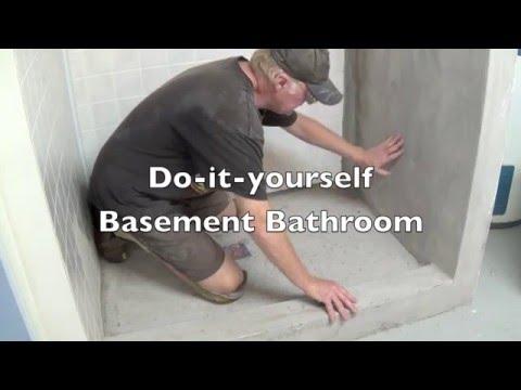DIY Basement Bathroom Part 9 - Painting Concrete Shower Stall