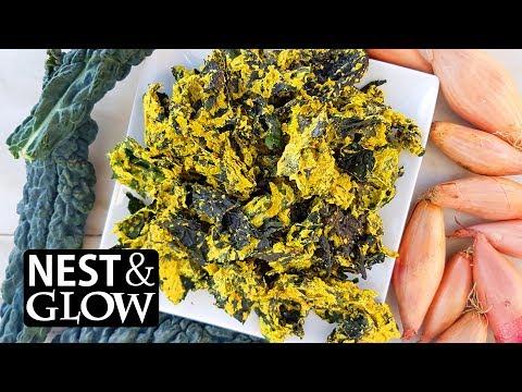 Cheese and Onion Sunflower Kale Crisps Recipe - NO MUSIC