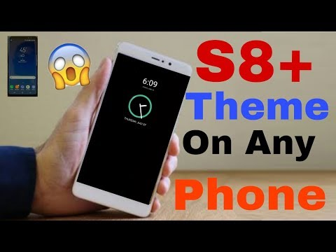 S8+ Theme On any Phone||show Time On Homescreen when Phone Is Off||S8 Amoled Theme
