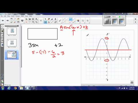 Find equation of sine or cosine function from graph