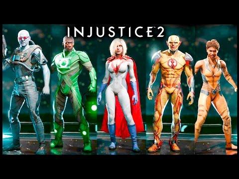 INJUSTICE 2 Todos los Personajes Trajes y Colores Premium | All Costumes Skins Premier Skins Shaders