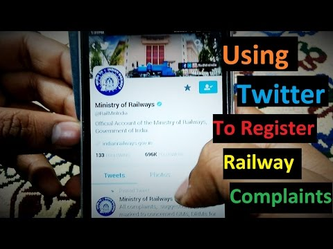 Use Twitter to register Indian Railways complaints (Eng Sub)
