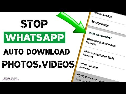 How to Stop WhatsApp from Downloading and Saving Photos, Videos Automatically