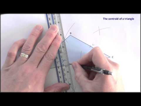 Straightedge and compass: constructing the centroid of a triangle