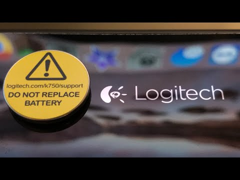 Logitech K750 Solar Keyboard Rechargeable Battery Replacement