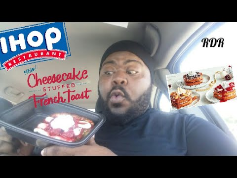 IHOP'S New Cheesecake STUFFED French Toast Review!!!