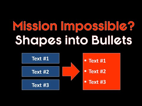 Advanced PowerPoint Trick Turning Shapes into Bullet Points