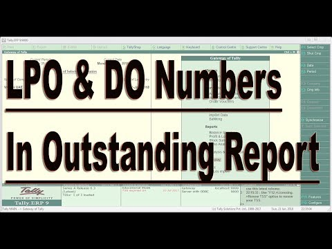 LPO Number And DO Number in Customer Outstanding Report