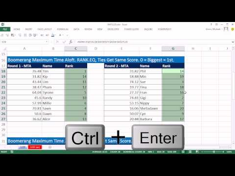 Excel Magic Trick 1135: Rank Values From Two Columns: RANK.AVE, RANK.EQ & RANK Functions
