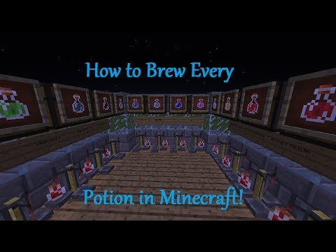 Minecraft - How to Brew Every Potion 1.8
