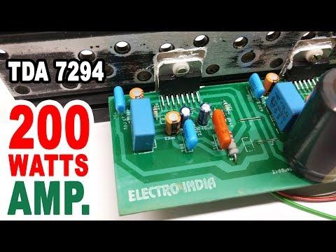200 Watts Audio Amplifier Board DIY TDA 7294 IC ( Hindi Electronics ) ELECTROINDIA