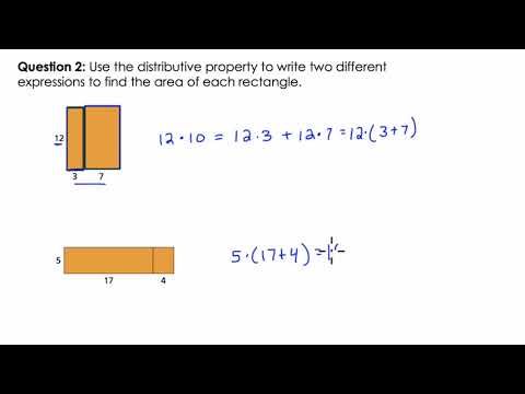 Distributive Property with Rectangles