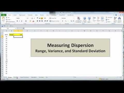 Excel Statistics 03 - Measuring Dispersion: Range, Variance, and Standard Deviation