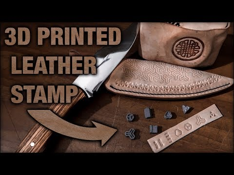 Leather Stamp: Make your own with 3D printing!