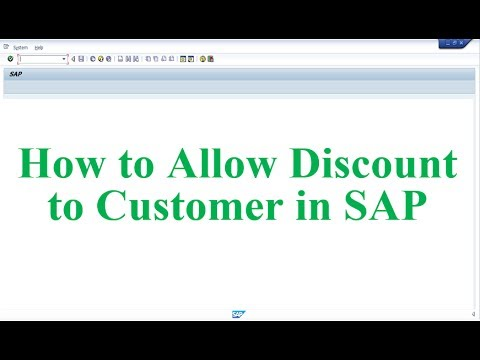 How to Allow Discount to Customer in SAP