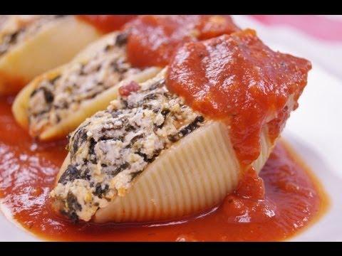Stuffed Shells Recipe: Pasta Shells Stuffed with Cheese and Spinach: Di Kometa-Dishin' With Di #67