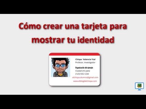 Cómo crear una tarjeta para mostrar tu identidad (HD) subtitulos