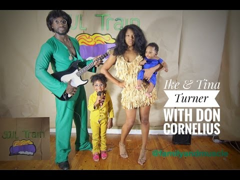 Awesome Family diy costumes. Ike and Tina Turner SoulTrain