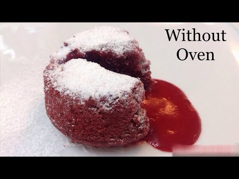 Red Velvet Lava Cake Without Oven - Lava Cake Without Oven