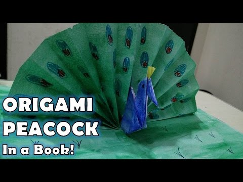 Peacock in a book | Origami Peacock | Best out of waste by Sparsh Hacks