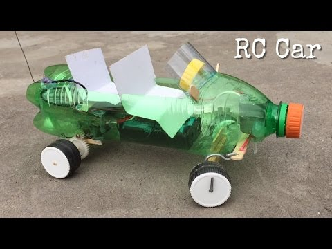 How to Make RC Car Out of Plastic Bottle - Very Powerful - incredible idea