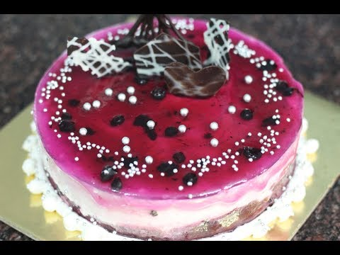 How to make a No bake blueberry cheese cake @ home  - very easy