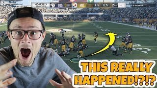 35 seconds left and losing... AND THEN THIS HAPPENED!! Madden 18 Packed Out