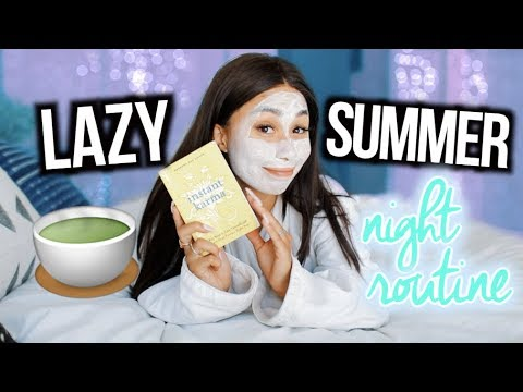My Lazy Summer Night Routine! 2018!