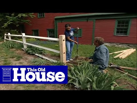 How to Repair a Split-Rail Fence - This Old House