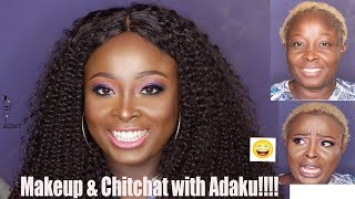 GISTING WITH ADAKU OF JENIFA'S DIARY WHILE DOING MAKEUP/ so hilarious!