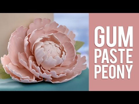 How to Make Gum Paste Peony Flowers