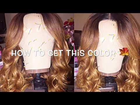 How I Dyed My Hair Honey Blonde QUICK & EASY!!!!!! (Very Detailed)