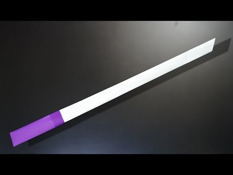Origami: Simple Sword / Katana - Instructions in English (BR)