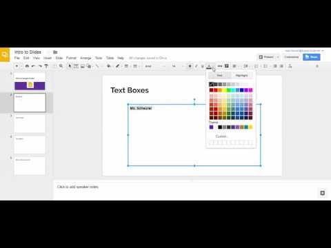 Insert Text Box - Google Slides
