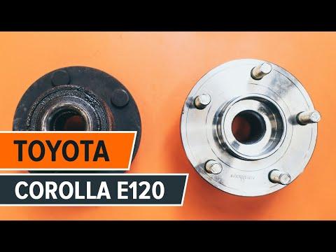 How to replacerear wheel bearing onTOYOTA COROLLA E120 TUTORIAL | AUTODOC