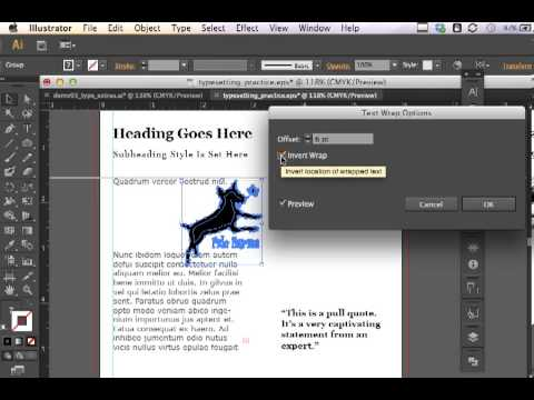 Adobe Illustrator CS6 Text Wrap
