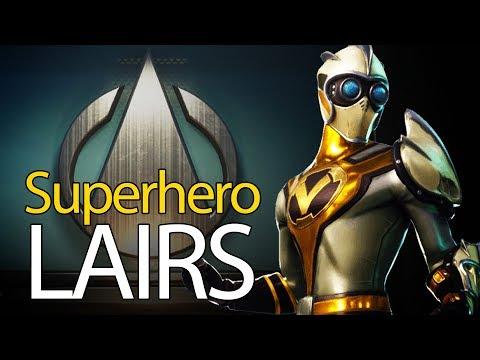 Fortnite Superhero Lair Locations