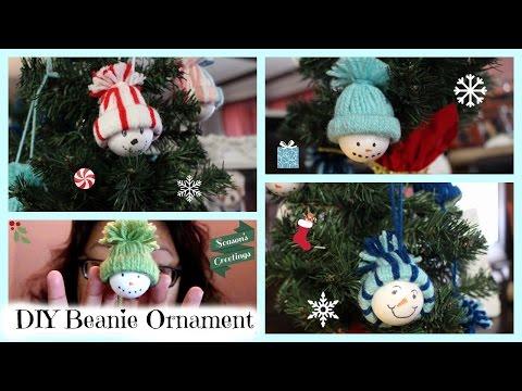 How to DIY Beanie Snowman Ornament!