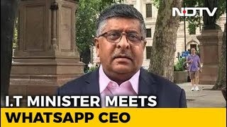 WhatsApp to Clamp Down on 'Sinister' Messages in India: Ravi Shankar Prasad