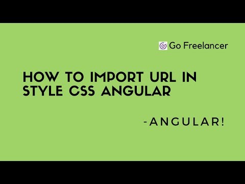 how to import url in style css angular