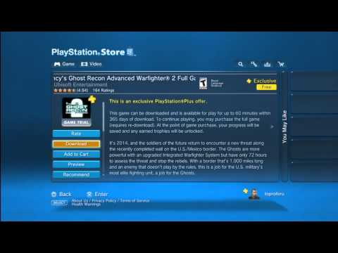 How To Get Full Games From The Playstation Store For Free!!