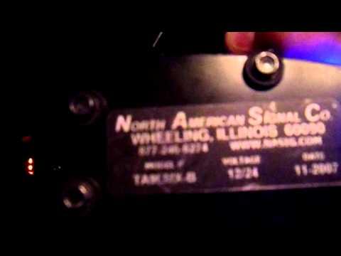 North American Signal Company TA9LMX-B LED Blue Police Lights