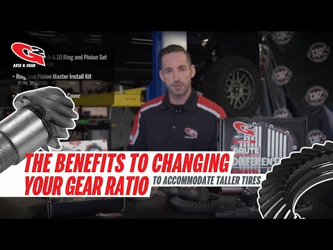 The Benefits to Changing Your Gear Ratio to Accommodate Taller Tires