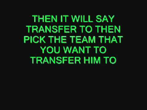 how to transfer players to different teams on fifa 12