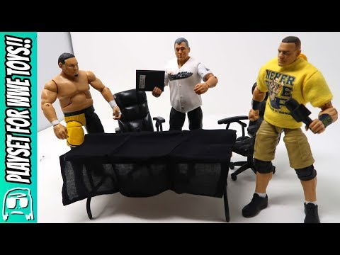 Contract Signing Toy Playset for WWE Action Figures Unboxing, Construction and Review!!