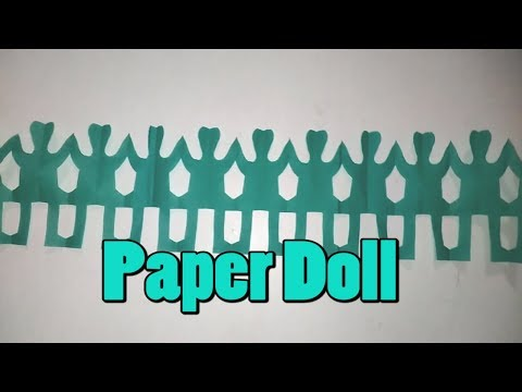 How to make a paper Doll || Paper Doll || Paper Cutting Art || Paper Doll Easy || Paper Crafts