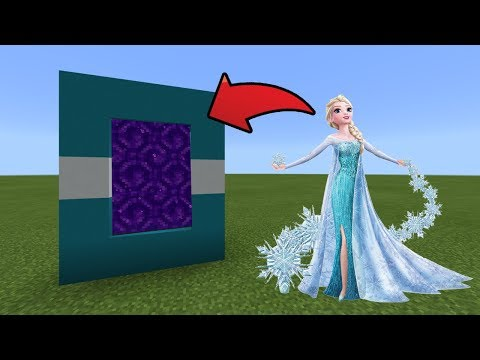 How To Make a Portal to the Elsa Dimension in MCPE (Minecraft PE)