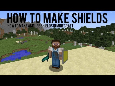 How To Make And Add Colours To Shields In Minecraft 1.9 - 15w38b