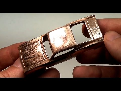 How to copper plate a Hot Wheels die cast car at home.